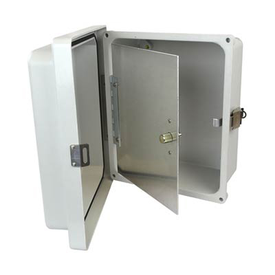 "Allied Moulded HFP108 Aluminum Swing Panel Kit for 10x8"" Enclosures"
