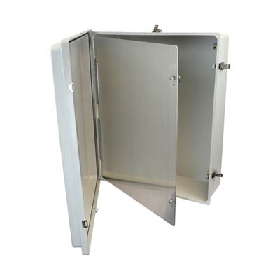 "Allied Moulded HFP2424 Aluminum Swing Panel Kit for 24x24"" Enclosures"