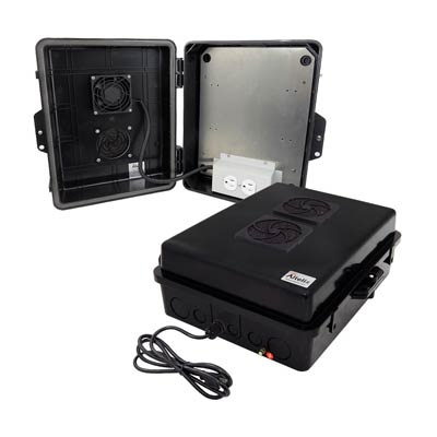 """Altelix 14x11x5"""" Polycarbonate Enclosure with Cooling Fan & 120V Power 
