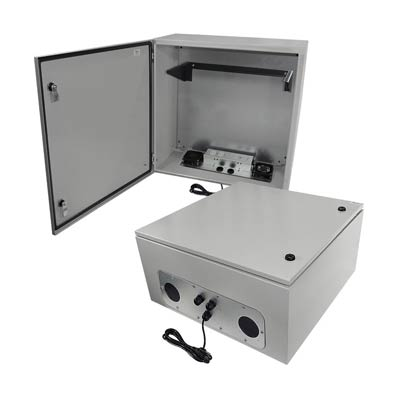 120VAC Powered Metal Enclosure