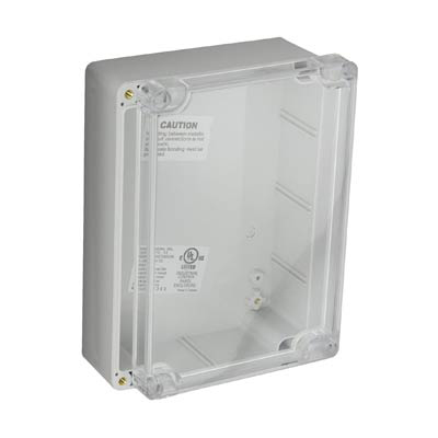 Bud Industries PN-1335-C Polycarbonate Electronic Enclosure w/Clear Cover