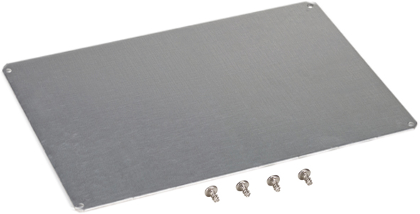 "Fibox ADFP1010 Aluminum Dead Front Panel for 10x10"" Enclosures"