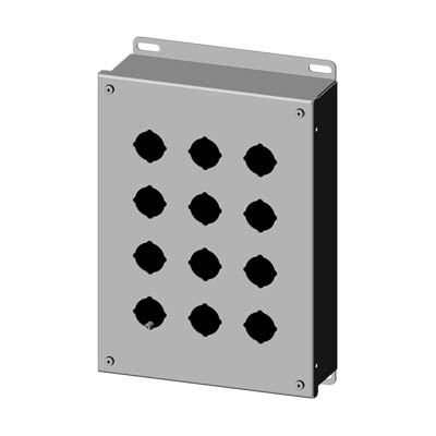 Saginaw SCE-12PBSS 304 SS Push Button Enclosure