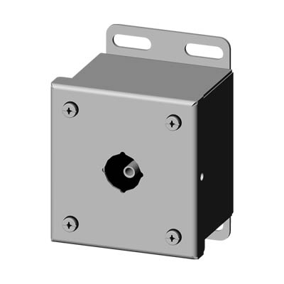 Saginaw SCE-1PBSS6I 22.5 mm Metal Push Button Enclosure