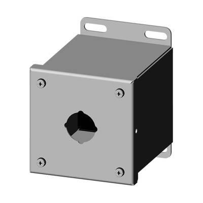 Saginaw SCE-1PBXSS 304 SS Push Button Enclosure