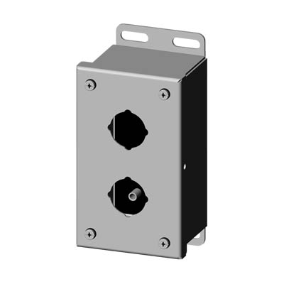 Saginaw SCE-2PBSS 30.5 mm Metal Push Button Enclosure