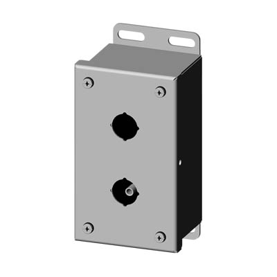 Saginaw SCE-2PBSSI 22.5 mm Metal Push Button Enclosure