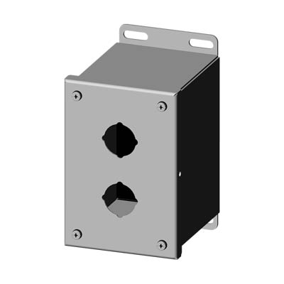Saginaw SCE-2PBXSS 304 SS Push Button Enclosure