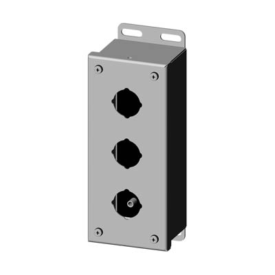 Saginaw SCE-3PBSS6 316 SS Push Button Enclosure