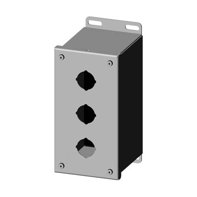 Saginaw SCE-3PBXSS 304 SS Push Button Enclosure