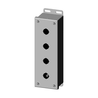 Saginaw SCE-4PBSS6I 22.5 mm Metal Push Button Enclosure