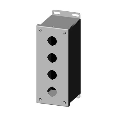 Saginaw SCE-4PBXSS6 30.5 mm Metal Push Button Enclosure