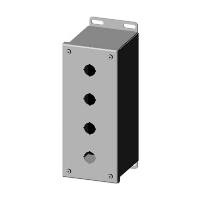 Saginaw SCE-4PBXSS6I 22.5 mm Metal Push Button Enclosure