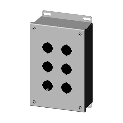 Saginaw SCE-6PBSS 304 SS Push Button Enclosure