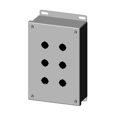 Saginaw SCE-6PBSS6I 22.5 mm Metal Push Button Enclosure