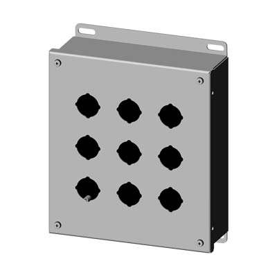 Saginaw SCE-9PBSS6 316 SS Push Button Enclosure