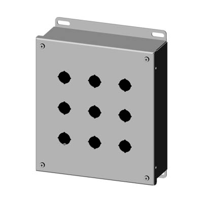 Saginaw SCE-9PBSSI 304 SS Push Button Enclosure